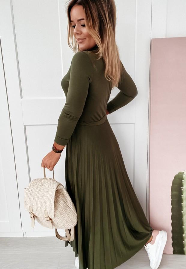 Sukienka Cocomore Plisa Lonly Khaki