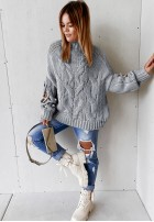 Sweter Cocomore Casual Grey
