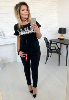 601-1 Spodnie Black Love