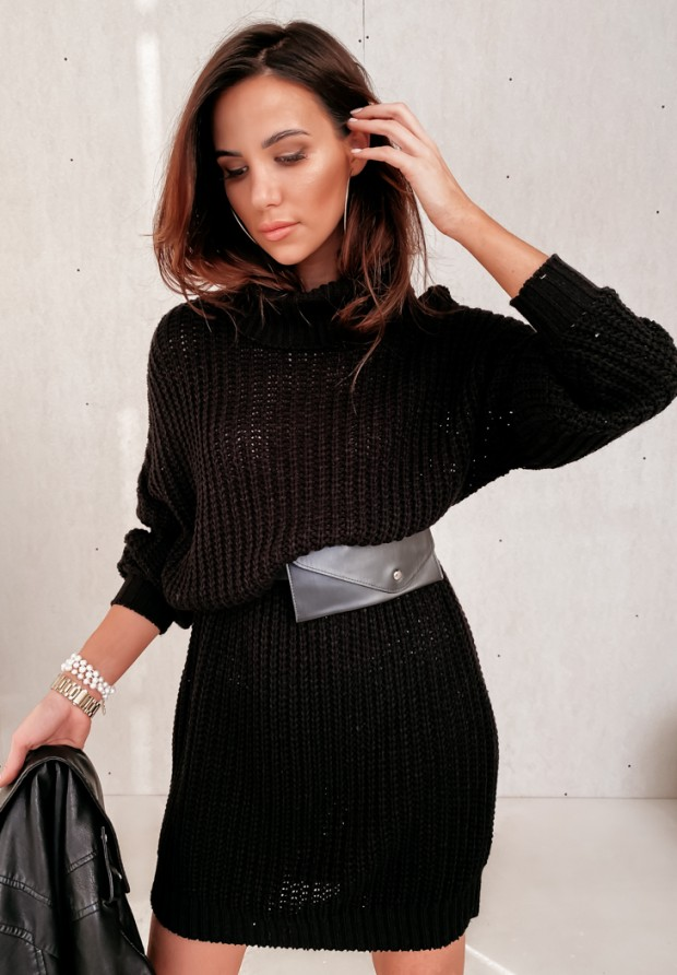 Sukienka Sweter Venga Black