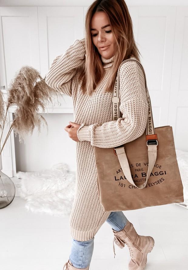 Sukienka Sweter Venga Beige