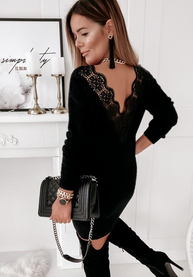 Sukienka Sweter Delhi Black