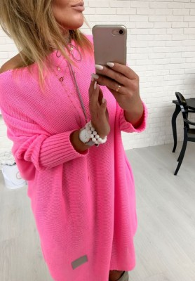 Sweter Malibu Neon Pink