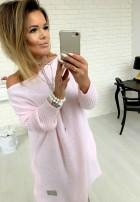Sweter Malibu Pudrowy Róż