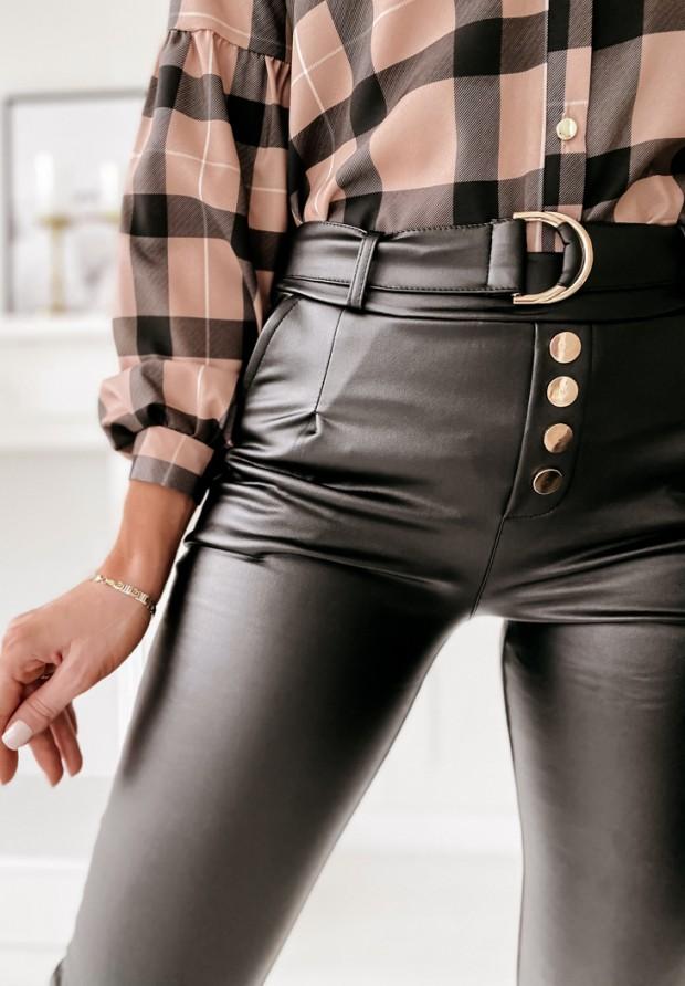 Spodnie Woskowane Breley Black