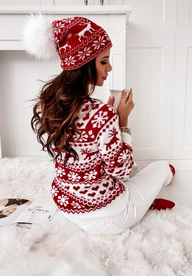 Czapka Reindeer Red