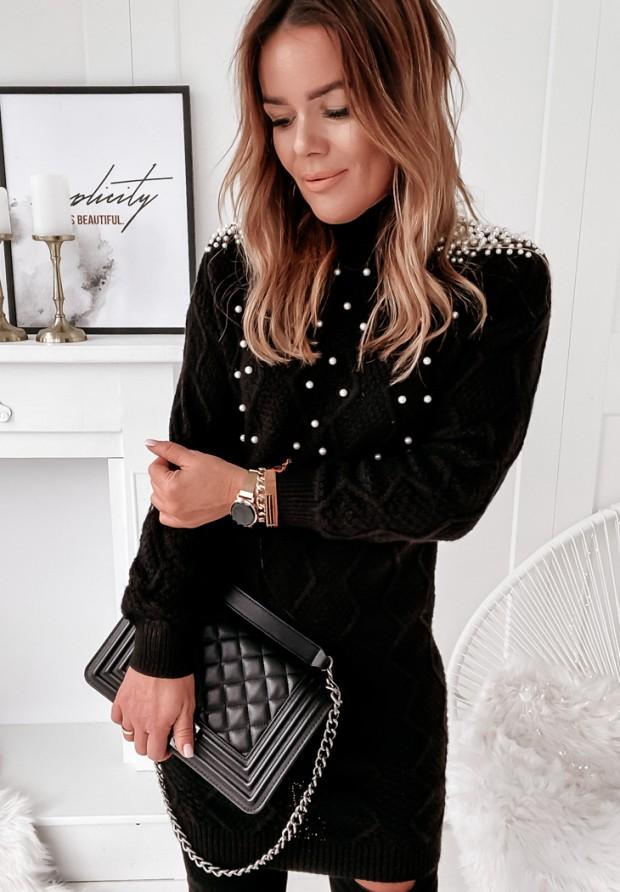 Sukienka Amari Pearls Black