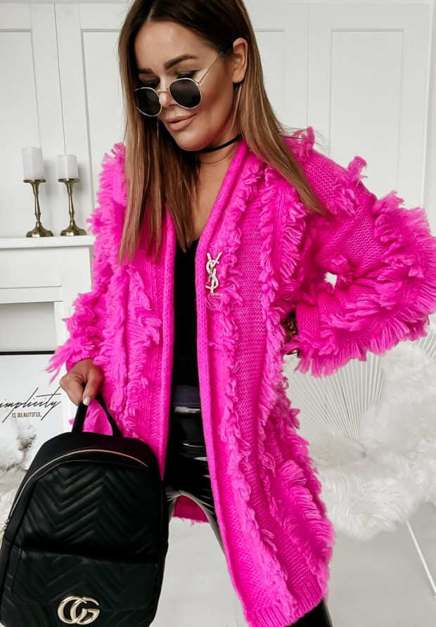 Kardigan La Frange Neon Pink