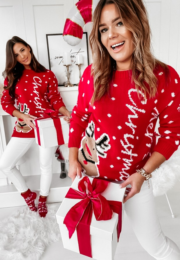Sweter Mery Time Red