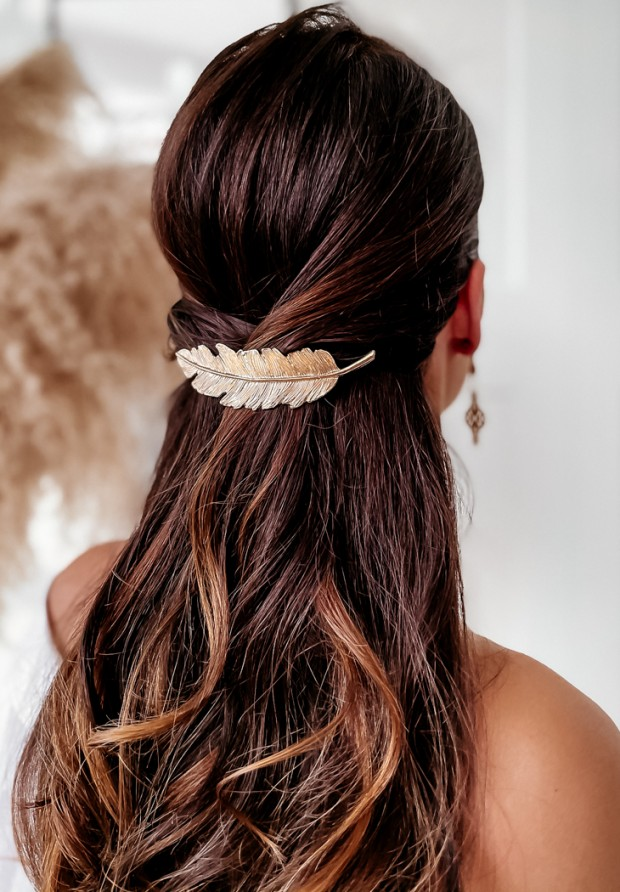 Spinka Feather Gold