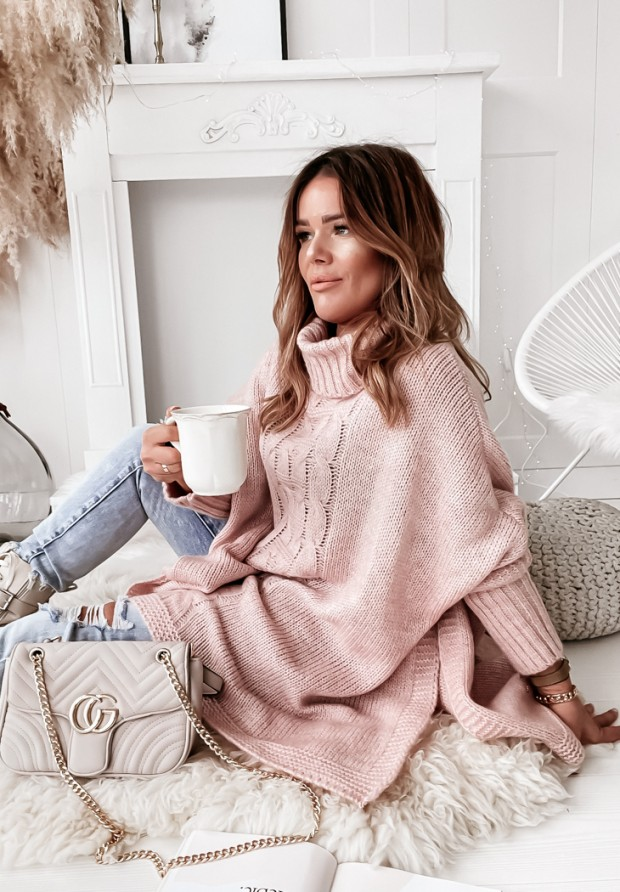 Sweter Ponczo Tarina Powder