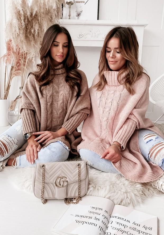 Sweter Ponczo Tarina Camel