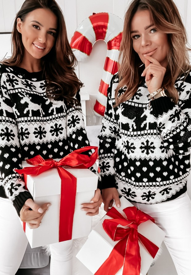 Sweter Snowflake Black