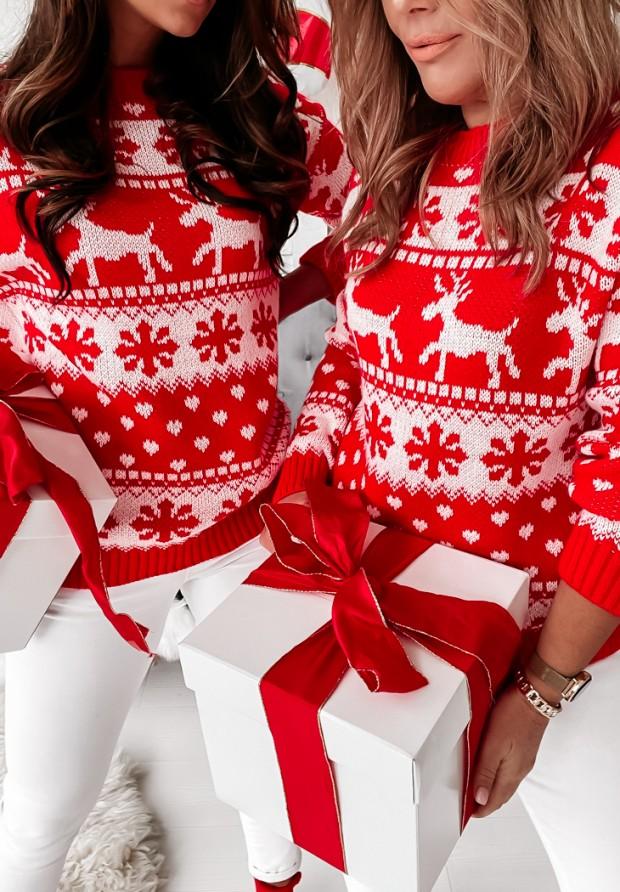 Sweter Snowflake Red
