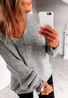 Sweter Chiocco Szary