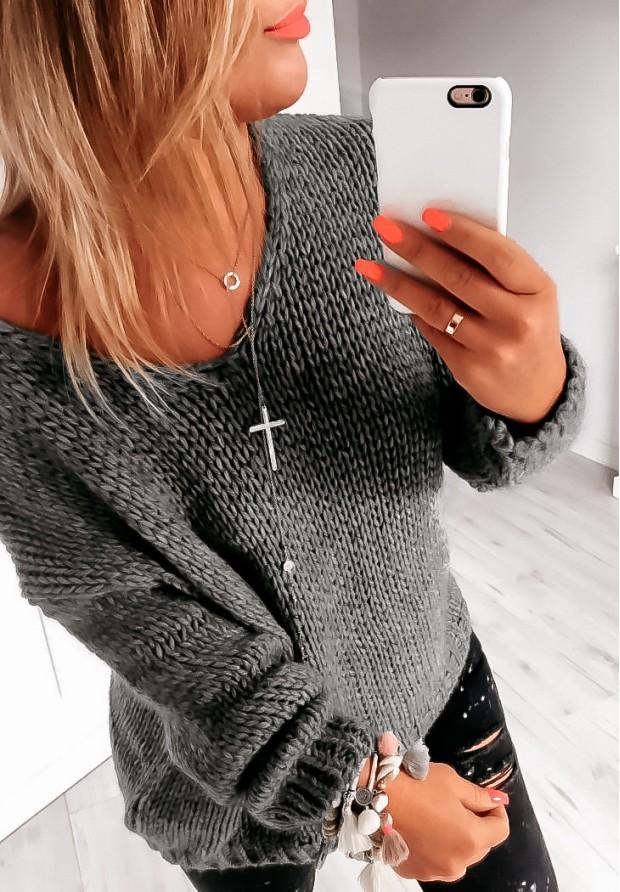 Sweter Chiocco Grafit