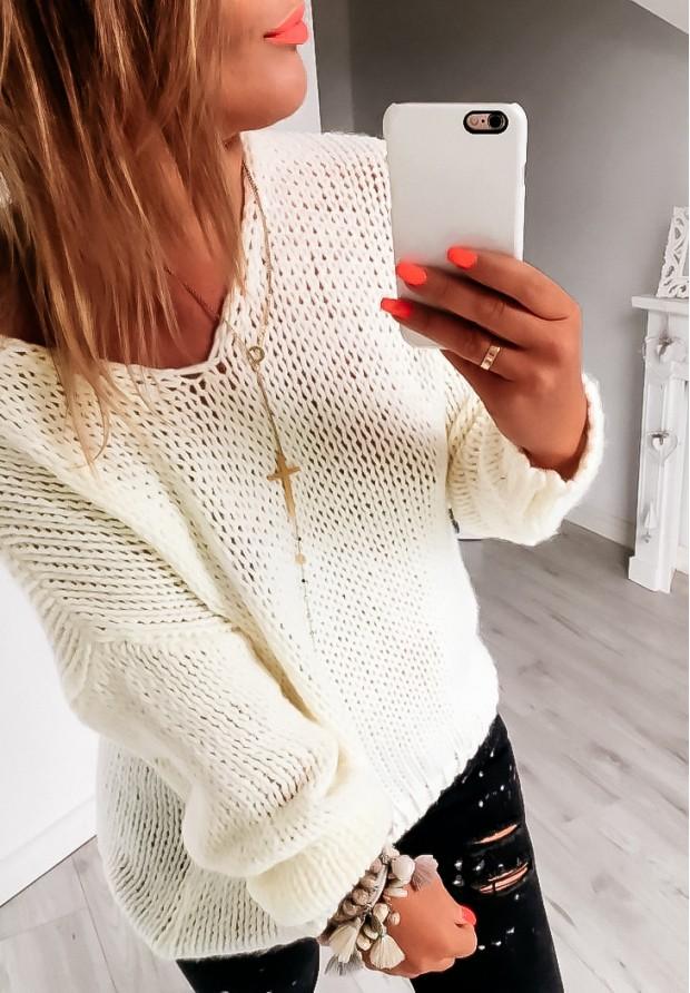 Sweter Chiocco Ecru