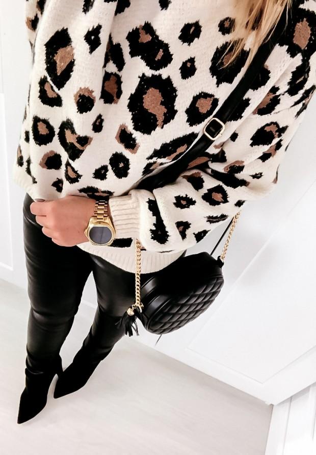 893 Sweter Pantera Idea Beż