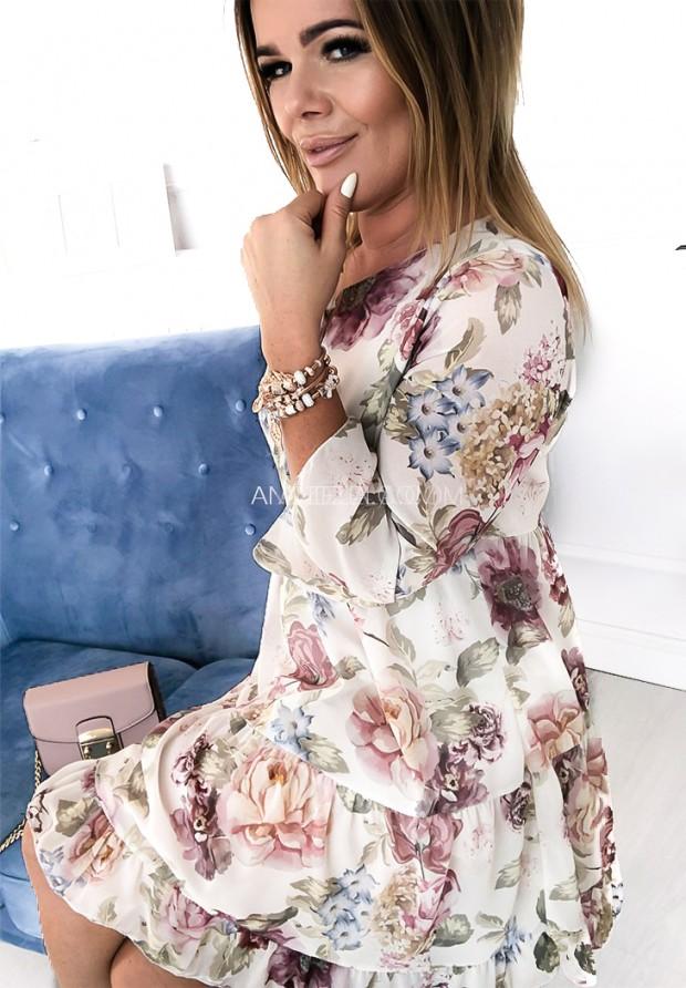 Sukienka Asteria Ecru