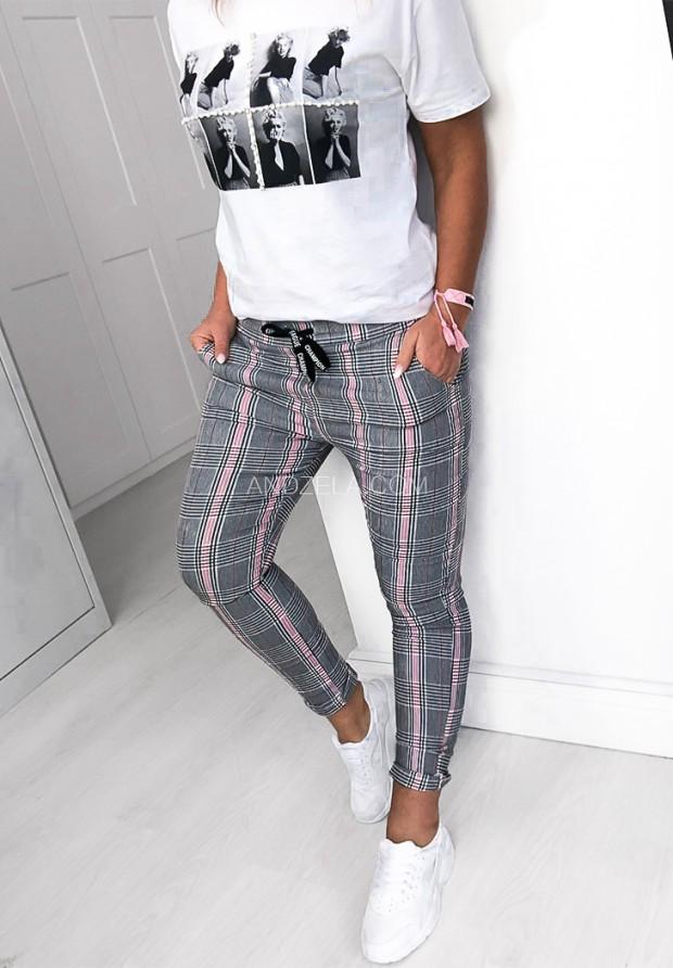 Spodnie Krata Pink