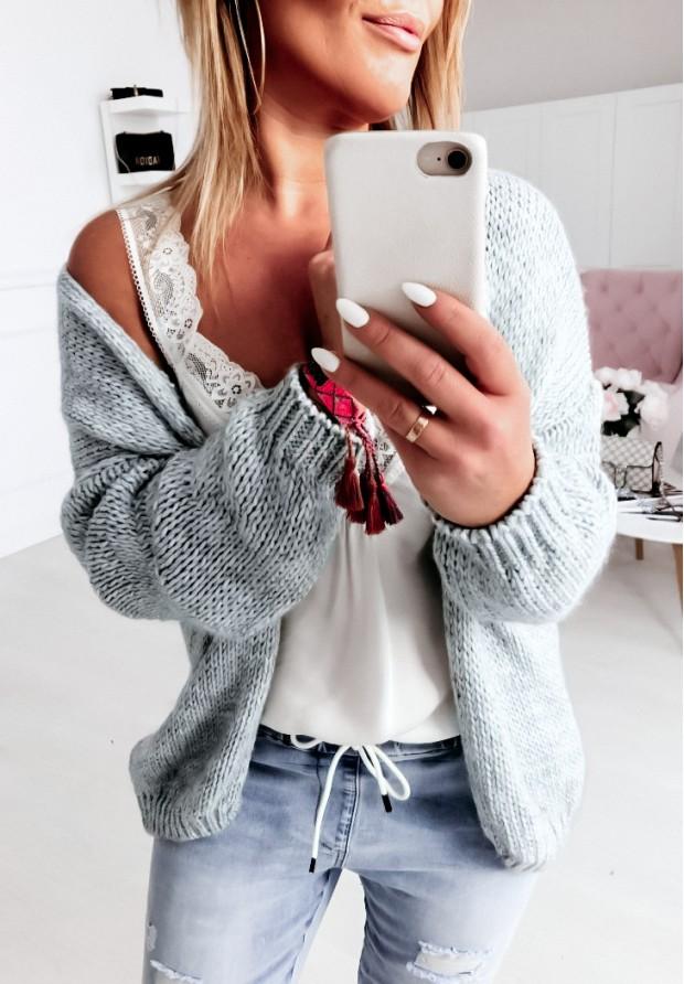 Sweter Kardigan Bonita Szary