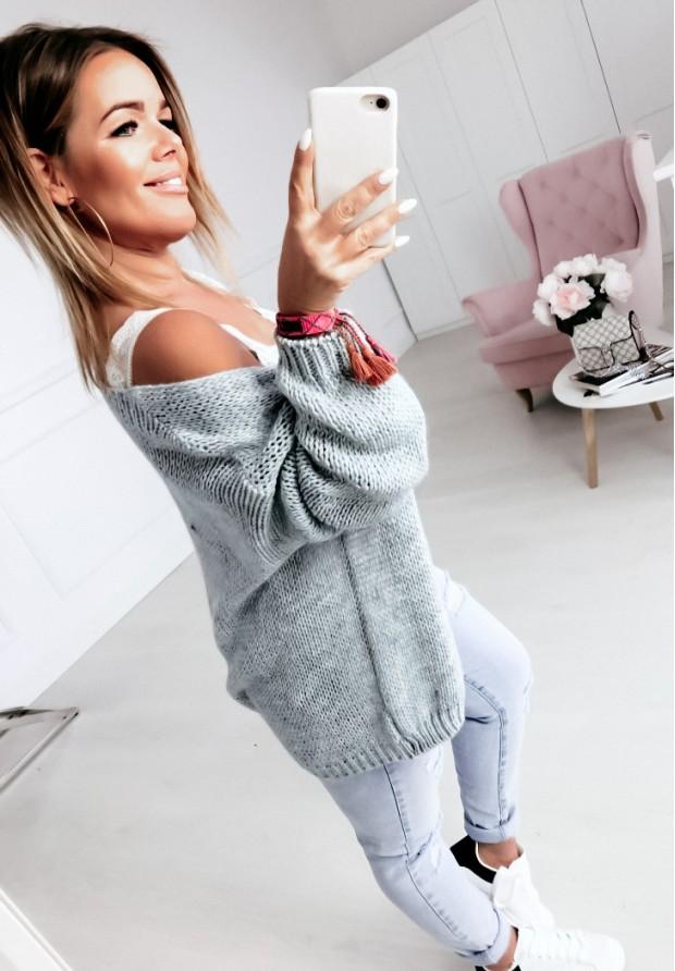 Sweter Kardigan Bonita Grey