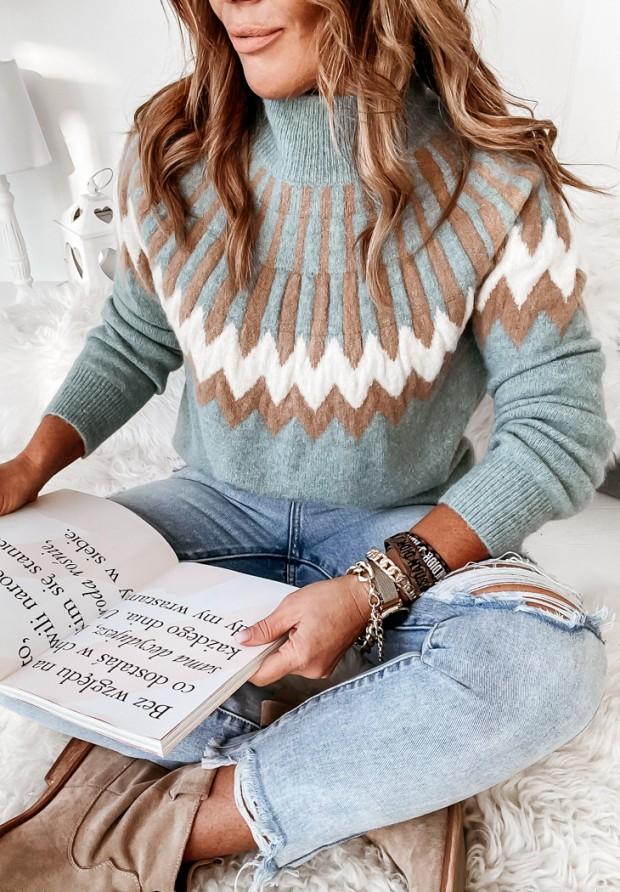 Sweter Corta Mint
