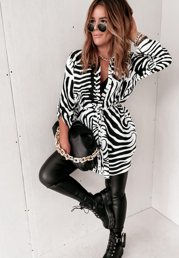 Koszula Tunika Zebra Black&White