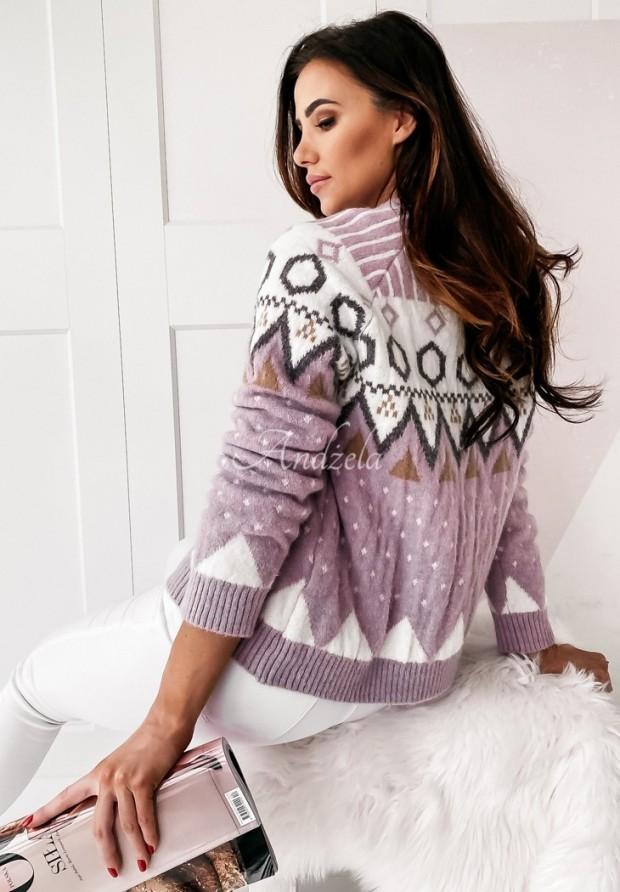 Sweter Aztec Violet