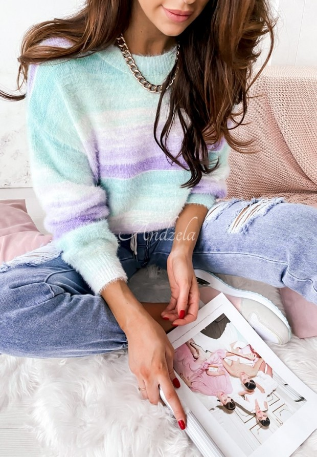Sweter Ombre Mint