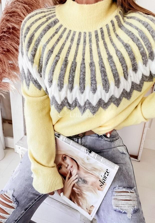 Sweter Corta Grey&Yellow