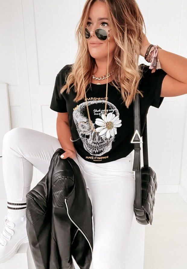 T-shirt Margherite Black