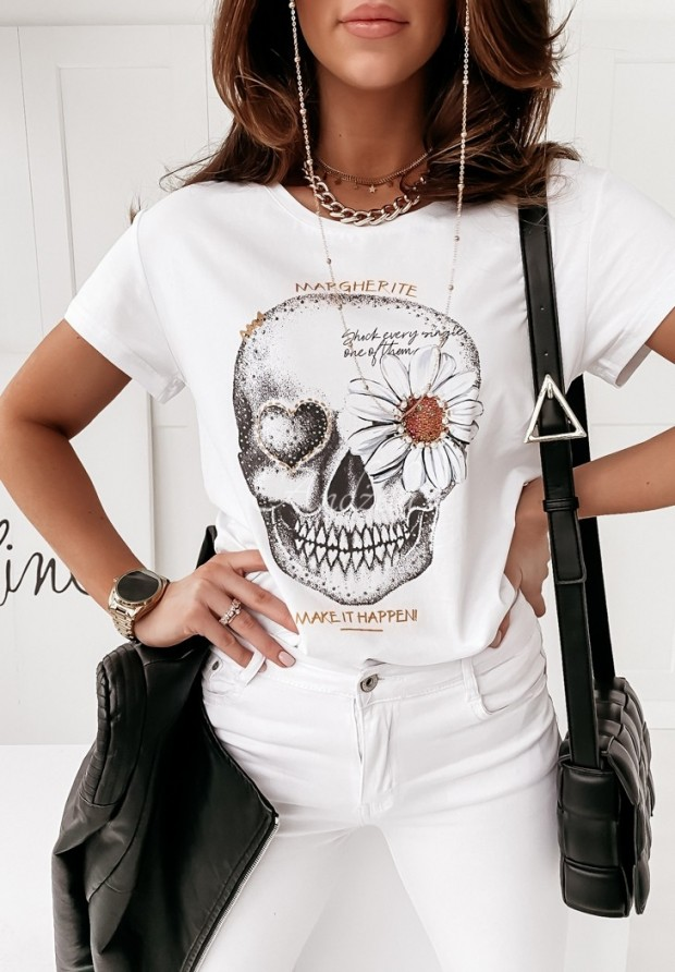 T-shirt Margherite White