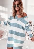 Sweter Linnie Paski Mint