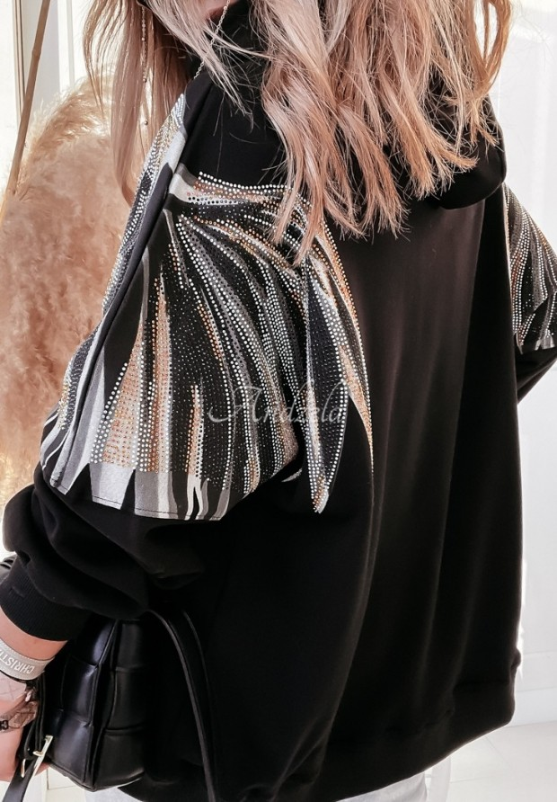 Bluza Oversize Crown Black