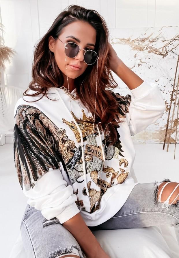 Bluza Oversize Crown White