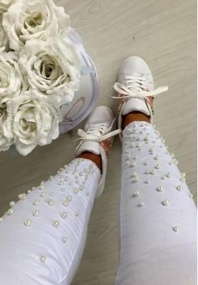 18480 Spodnie Perlage Grey White