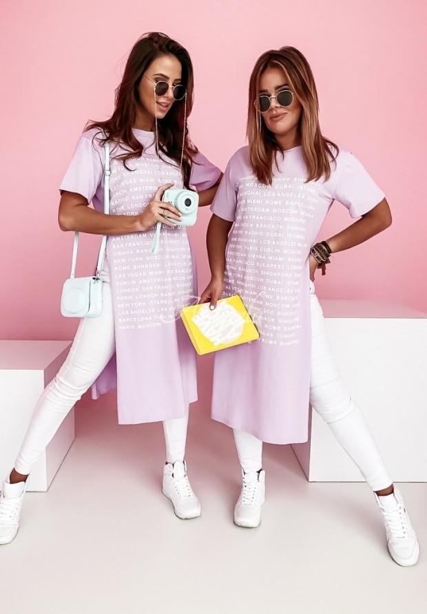 Bluzka Tunika London Lilac