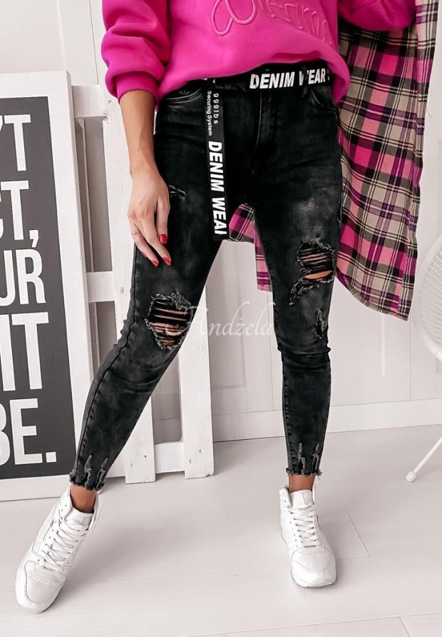Spodnie Jeans Denim Black
