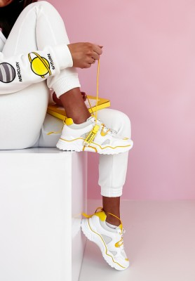 Adidasy Fancy White&Yellow