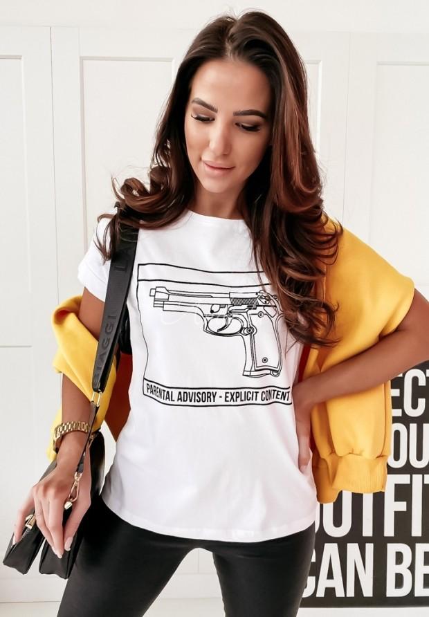 T-shirt Pistoll White