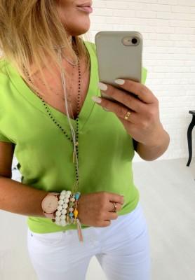 T-shirt V-neck Greenery