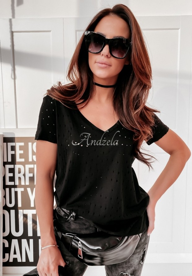 T-shirt Holes Black