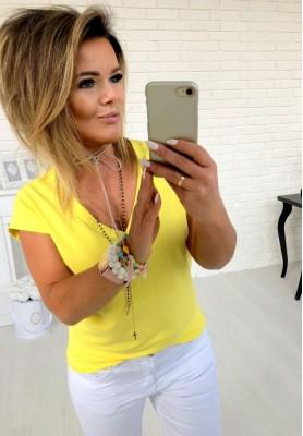 T-shirt V-neck Yellow