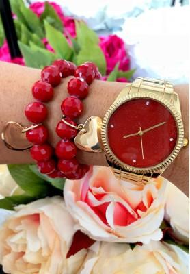 Zegarek First Bordo