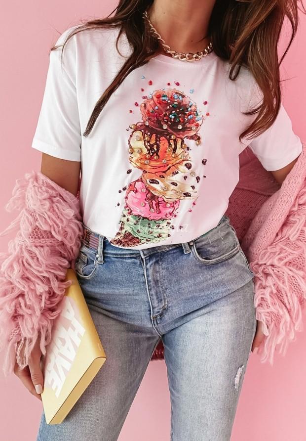 T-shirt Ice Cream White