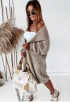 Sweter Kardigan Bueno Mokka