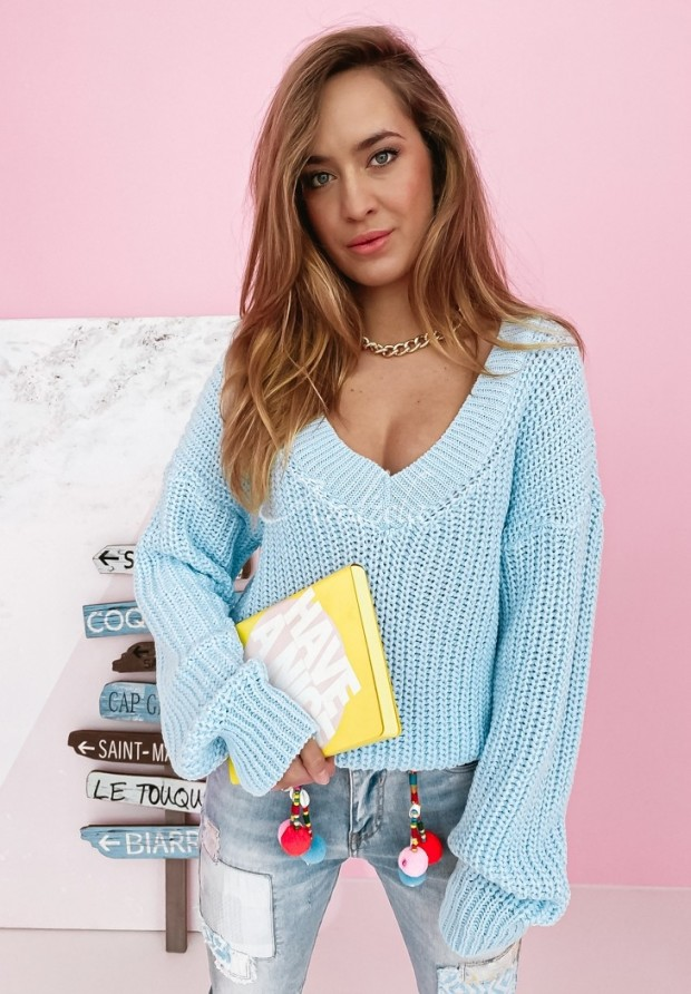 Sweter Hevin Pastel Blue