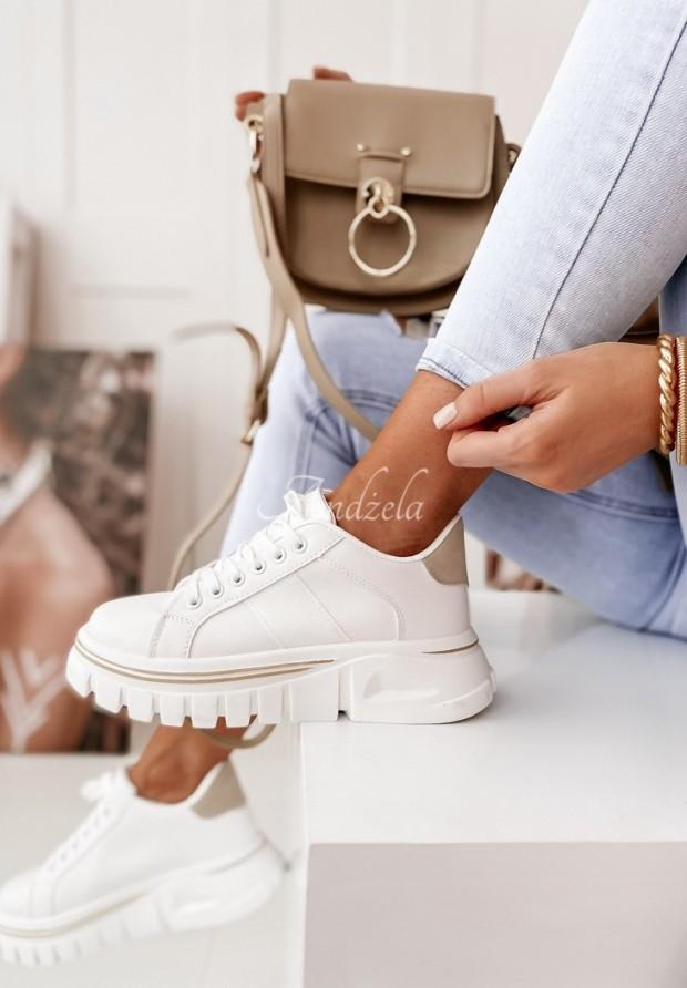 Adidasy Berit White&Beige