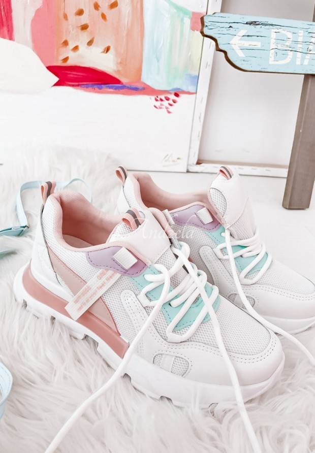 Adidasy Happiness White&Pink